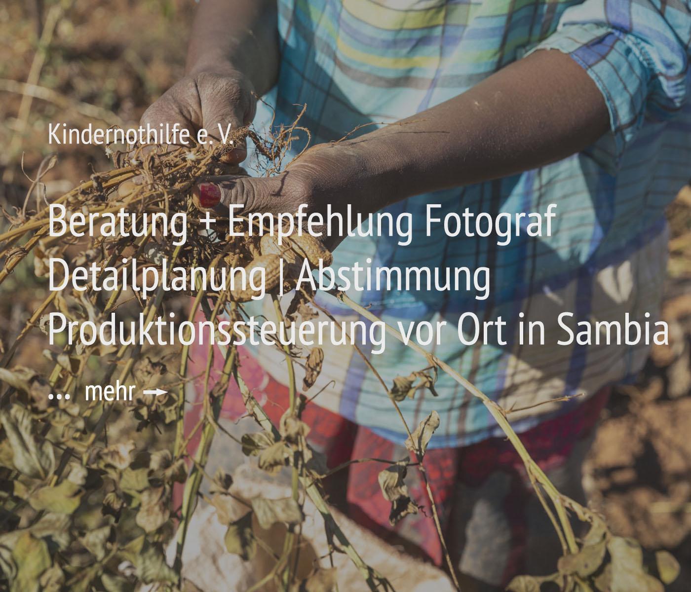 Portraitfotografie + Projektmanagement + Organisation für die Kindernothilfe e.V.